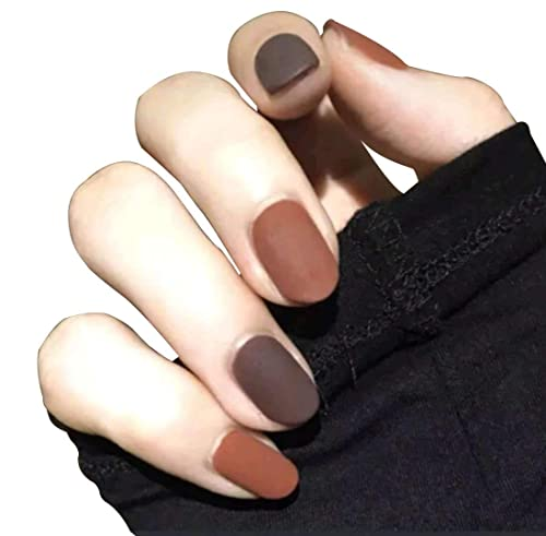 JINDIN French Matte Press on Nails for Women